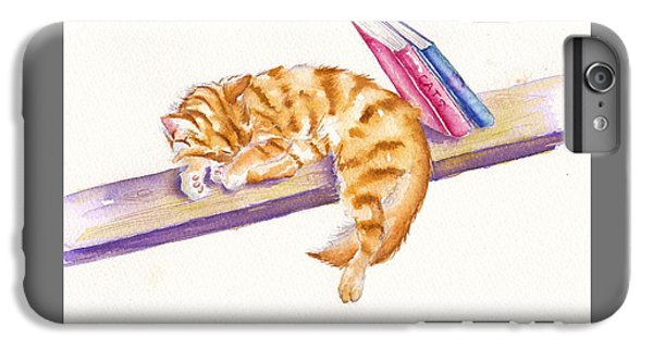 Cat iPhone 6s Plus Case - Bookend by Debra Hall