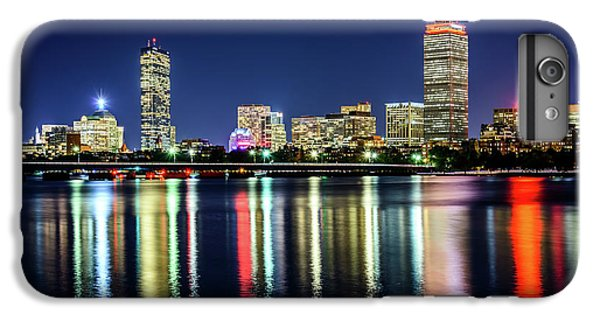 Harvard iPhone 6s Plus Case - Boston Skyline At Night With Harvard Bridge by Paul Velgos