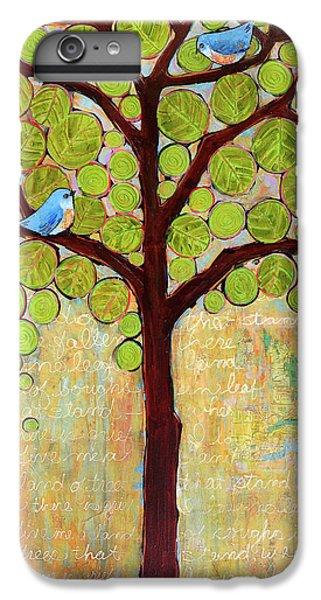 Bluebird iPhone 6s Plus Case - Boughs In Leaf Tree by Blenda Studio