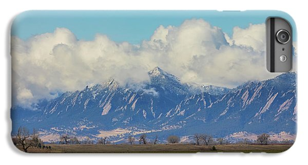 IPhone 6s Plus Case featuring the photograph Boulder Colorado Front Range Cloud Pile On by James BO Insogna