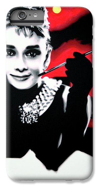 Audrey Hepburn iPhone 6s Plus Case - Breakfast At Tiffany's by Hood alias Ludzska