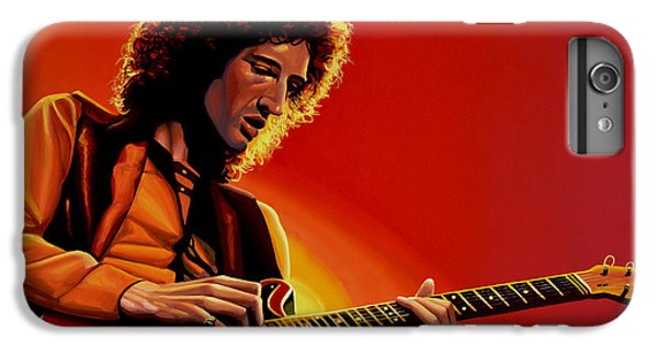 Brian May Of Queen Painting IPhone 6s Plus Case by Paul Meijering