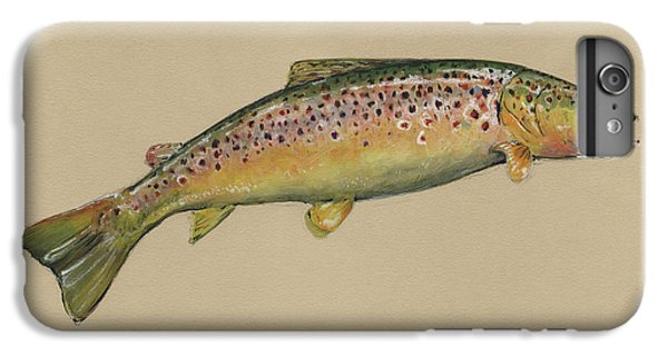 Brown Trout Jumping IPhone 6s Plus Case by Juan Bosco