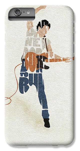 Folk Art iPhone 6s Plus Case - Bruce Springsteen Typography Art by Inspirowl Design