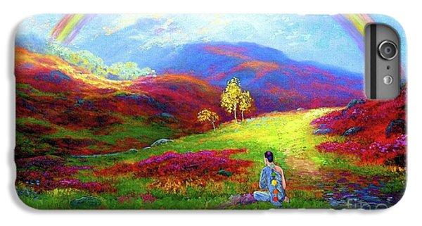Impressionism iPhone 6s Plus Case - Buddha Chakra Rainbow Meditation by Jane Small
