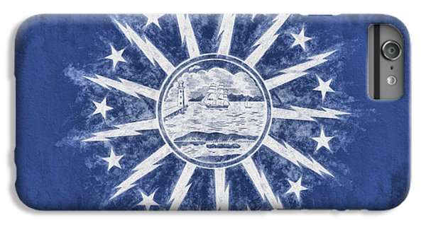 IPhone 6s Plus Case featuring the digital art Buffalo Ny City Flag by JC Findley