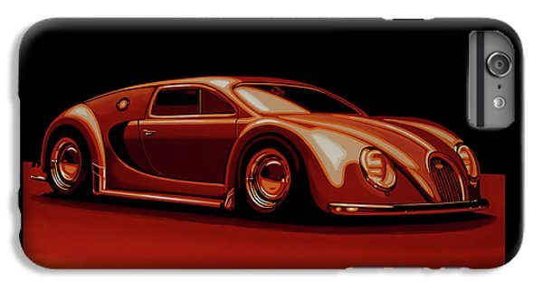 Beetle iPhone 6s Plus Case - Bugatti Veyron 'beetgatti' 1945 Painting by Paul Meijering