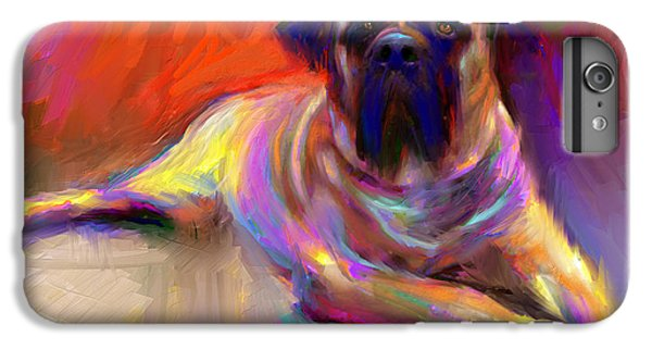 Bullmastiff Dog Painting IPhone 6s Plus Case by Svetlana Novikova