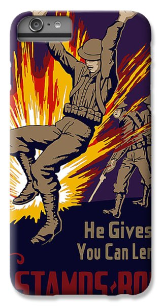 Explosion iPhone 6s Plus Case - Buy War Stamps And Bonds by War Is Hell Store