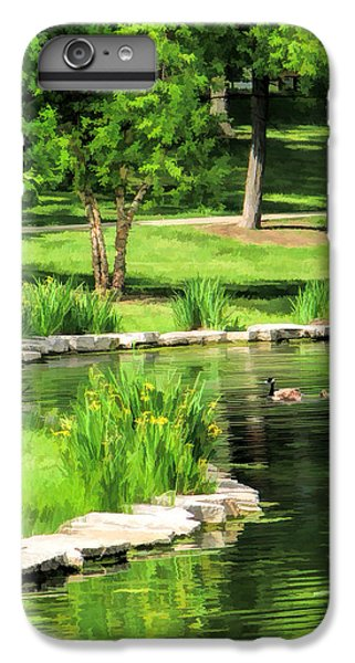 IPhone 6s Plus Case featuring the painting Calm Lake Ellyn by Christopher Arndt