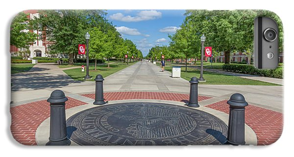 Oklahoma University iPhone 6s Plus Case - Campus Seal On The Campus Of The University Of Oklahoma by Ken Wolter