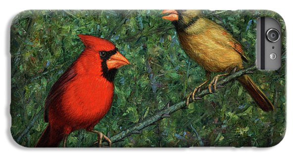 Cardinal Couple IPhone 6s Plus Case by James W Johnson