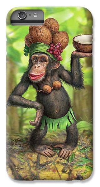 Chimpanzee iPhone 6s Plus Case - Carmen Coconuts by Mark Fredrickson