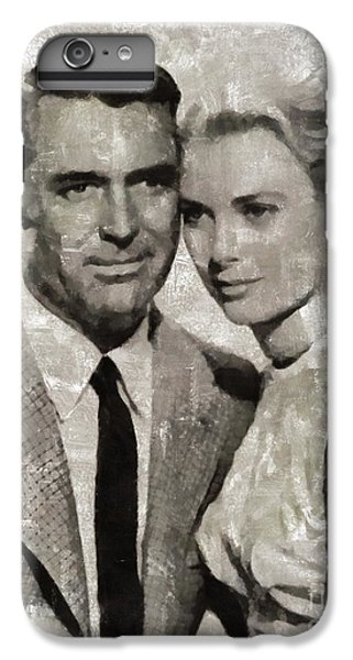 Grace Kelly iPhone 6s Plus Case - Cary Grant And Grace Kelly, Hollywood Legends by Mary Bassett