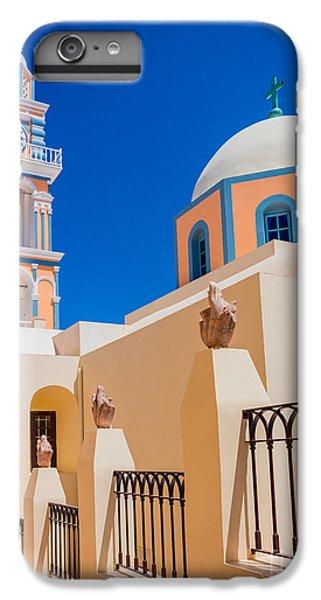 Greece iPhone 6s Plus Case - Catholic Cathedral Church Of Saint John The Baptist by Inge Johnsson