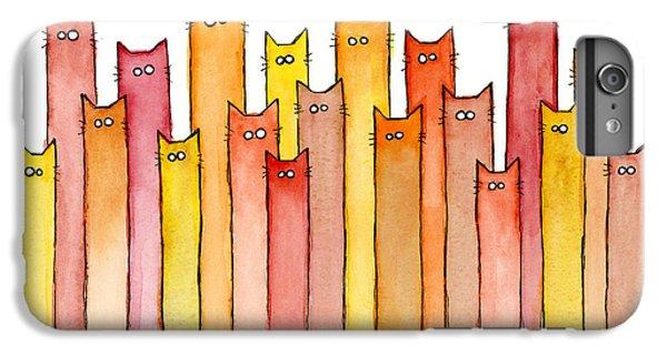 Animals iPhone 6s Plus Case - Cats Autumn Colors by Olga Shvartsur