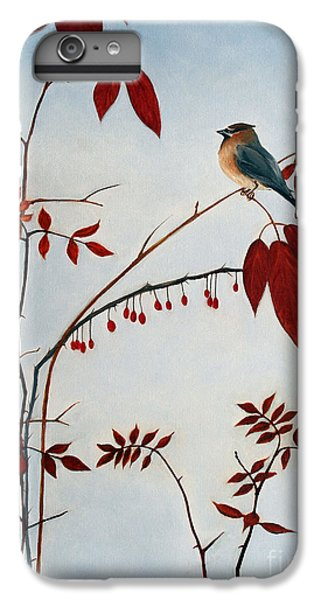 Cedar Waxwing IPhone 6s Plus Case by Laura Tasheiko