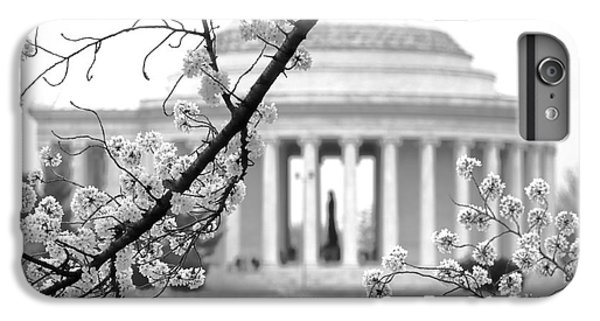 Jefferson Memorial iPhone 6s Plus Case - Cherry Tree And Jefferson Memorial Elegance  by Olivier Le Queinec