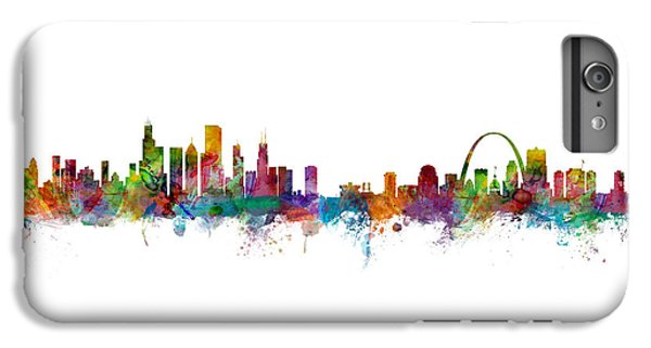 Chicago And St Louis Skyline Mashup IPhone 6s Plus Case by Michael Tompsett