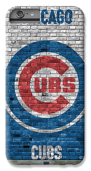 City iPhone 6s Plus Case - Chicago Cubs Brick Wall by Joe Hamilton