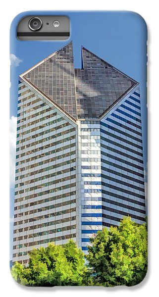 IPhone 6s Plus Case featuring the painting Chicago Smurfit-stone Building by Christopher Arndt
