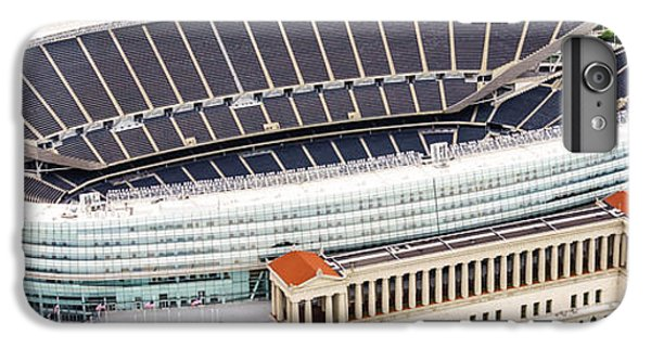 Soldier Field iPhone 6s Plus Case - Chicago Soldier Field Aerial Photo by Paul Velgos
