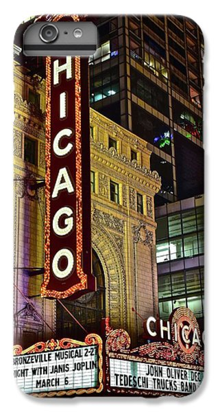 Hancock Building iPhone 6s Plus Case - Chicago Theater Aglow by Frozen in Time Fine Art Photography