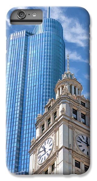 IPhone 6s Plus Case featuring the painting Chicago Trump And Wrigley Towers by Christopher Arndt