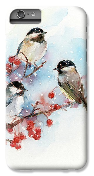 Chickadee iPhone 6s Plus Case - Chickadees With Berries by John Keeling