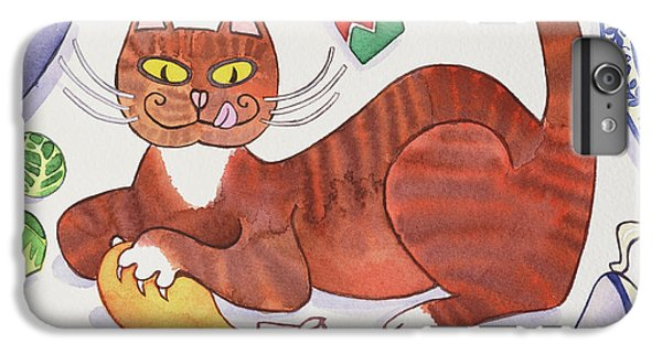 Christmas Cat And The Turkey IPhone 6s Plus Case