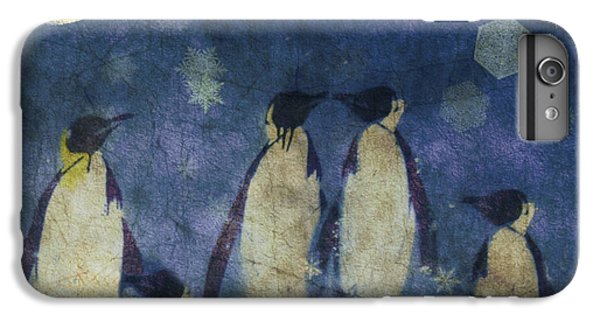 Penguin iPhone 6s Plus Case - Christmas Moon  by Paul Lovering