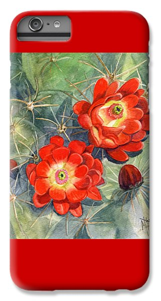 Spines iPhone 6s Plus Case - Claret Cup Cactus by Marilyn Smith