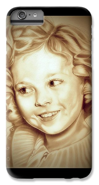 Classic Shirley Temple IPhone 6s Plus Case by Fred Larucci