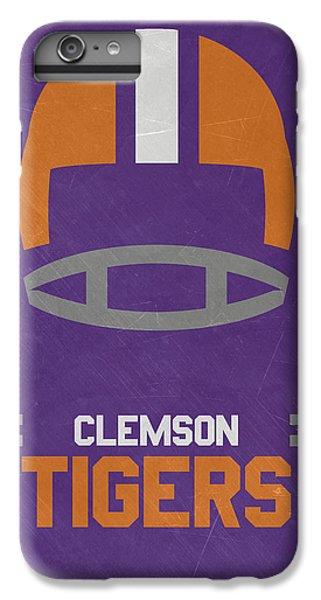 Clemson iPhone 6s Plus Case - Clemson Tigers Vintage Football Art by Joe Hamilton
