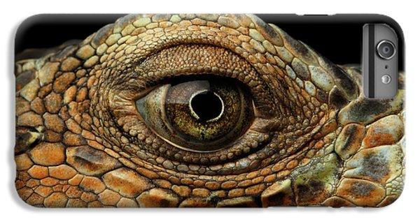 Closeup Eye Of Green Iguana, Looks Like A Dragon IPhone 6s Plus Case by Sergey Taran