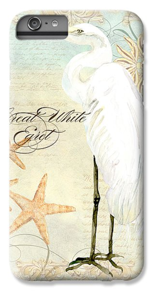 Coastal Waterways - Great White Egret 3 IPhone 6s Plus Case by Audrey Jeanne Roberts