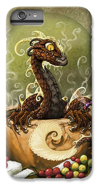 Dragon iPhone 6s Plus Case - Coffee Dragon by Stanley Morrison