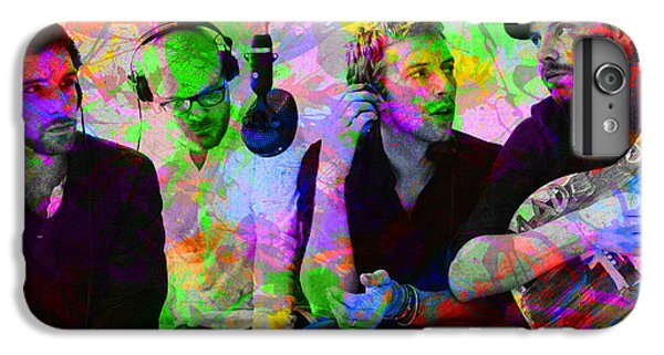 Coldplay iPhone 6s Plus Case - Coldplay Band Portrait Paint Splatters Pop Art by Design Turnpike