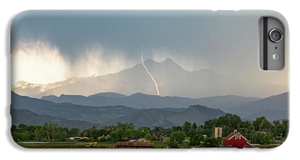 IPhone 6s Plus Case featuring the photograph Colorado Front Range Lightning And Rain Panorama View by James BO Insogna