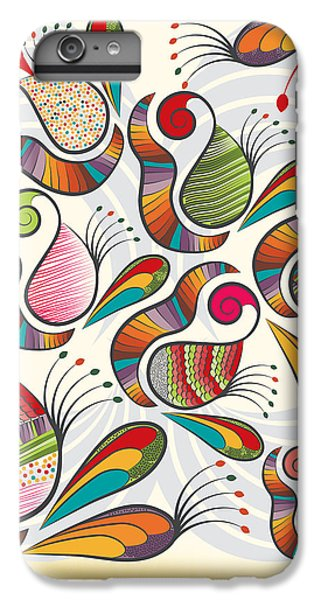 Colorful Paisley Pattern IPhone 6s Plus Case by Famenxt DB