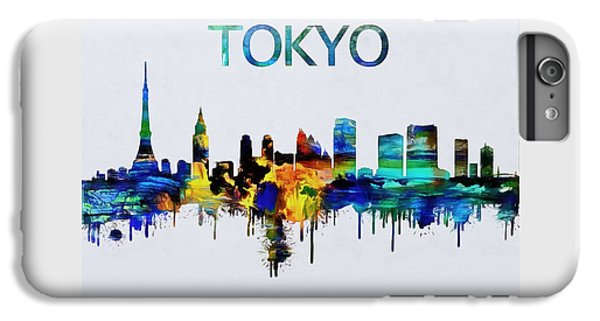Colorful Tokyo Skyline Silhouette IPhone 6s Plus Case by Dan Sproul