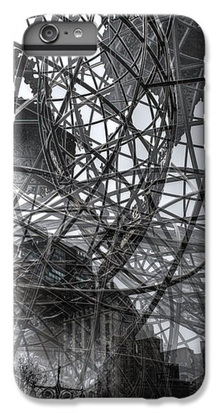 IPhone 6s Plus Case featuring the photograph New York - Columbus Circle Globe -  Collage by Dave Beckerman