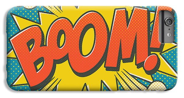 iPhone 6s Plus Case - Comic Boom On Blue by Mitch Frey