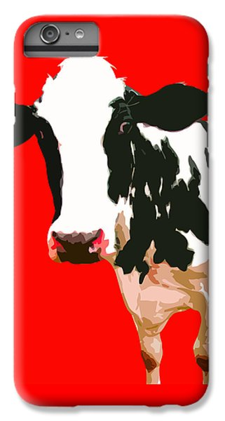 Cow iPhone 6s Plus Case - Cow In Red World by Peter Oconor