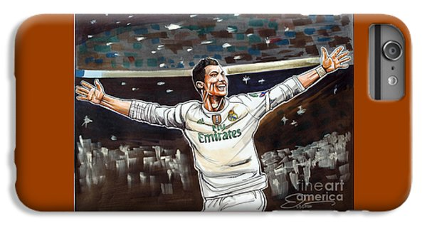 Cristiano Ronaldo Of Real Madrid IPhone 6s Plus Case by Dave Olsen