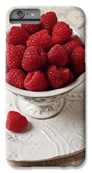 Cup Full Of Raspberries  IPhone 6s Plus Case by Garry Gay