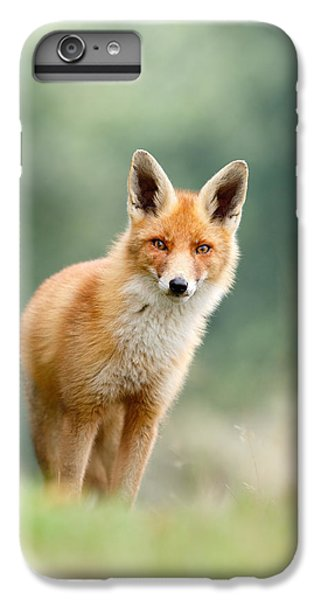 Fox iPhone 6s Plus Case - Curious Fox by Roeselien Raimond