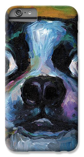Cute Boston Terrier Puppy Art IPhone 6s Plus Case