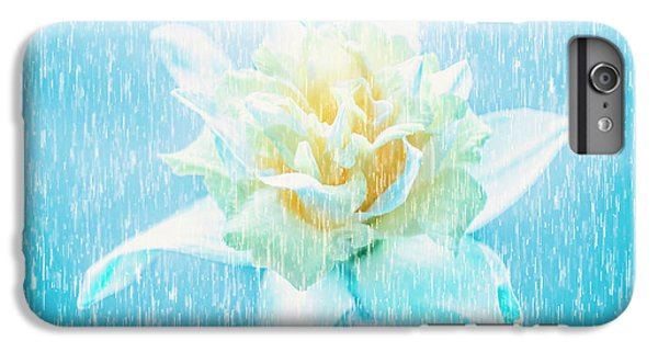 Daffodil Flower In Rain. Digital Art IPhone 6s Plus Case