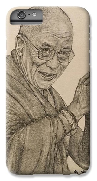 Dalai Lama Tenzin Gyatso IPhone 6s Plus Case by Kent Chua